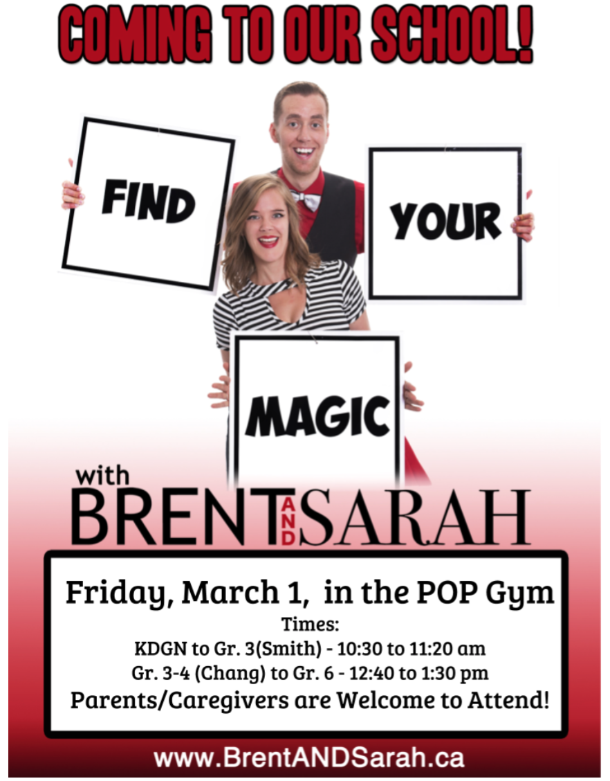 Bullying Awareness and Positive Mindset – Magic is Coming to Prince of Peace, and Parents are Welcome!