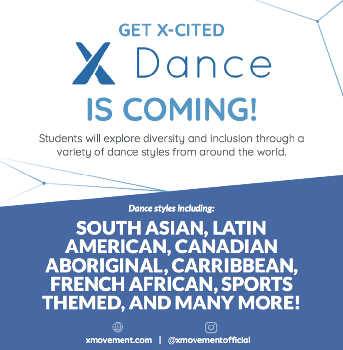 Shaking Off the Winter Blues with X-Dance – Family/Community Event February 21st