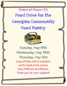 Reminder: Community Food Drive at Prince of Peace